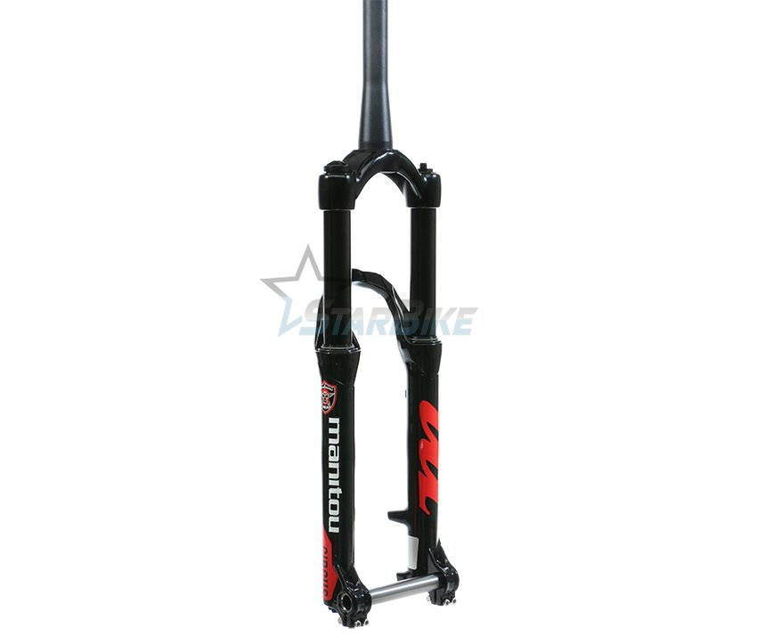 "Амортизационная вилка Manitou Circus Expert 26"" 100mm 1-1/8""-1.5"" TPR CM TA BL AM Black"