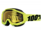 Маска 100% Accuri Snowmobile Fluo / Yellow Vented Dual Lens w/Pins