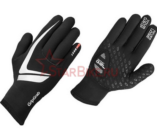 Велоперчатки зимние GripGrab Neoprene glove Gloves, M, Black