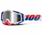 Маска 100% Racecraft Plus LE MXDN Red/White/Blue / Injected Silver Flash Mirror Lens