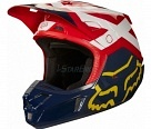 Мотошлем Fox V3 Solids Helmet White/Silver L 59-60cm