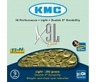 Цепь KMC X9L 9 ск. 116 links Gold