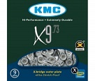 Цепь KMC X9-73 9 ск. 116 links Gray/Gray