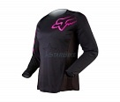 Мотоджерси женская Fox Blackout Womens Jersey Black/Pink L