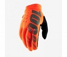 Мотоперчатки 100% Brisker Glove Fluo Orange/Black M